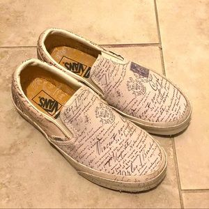 Van Gogh Letters Vans Slip On Limited Edition